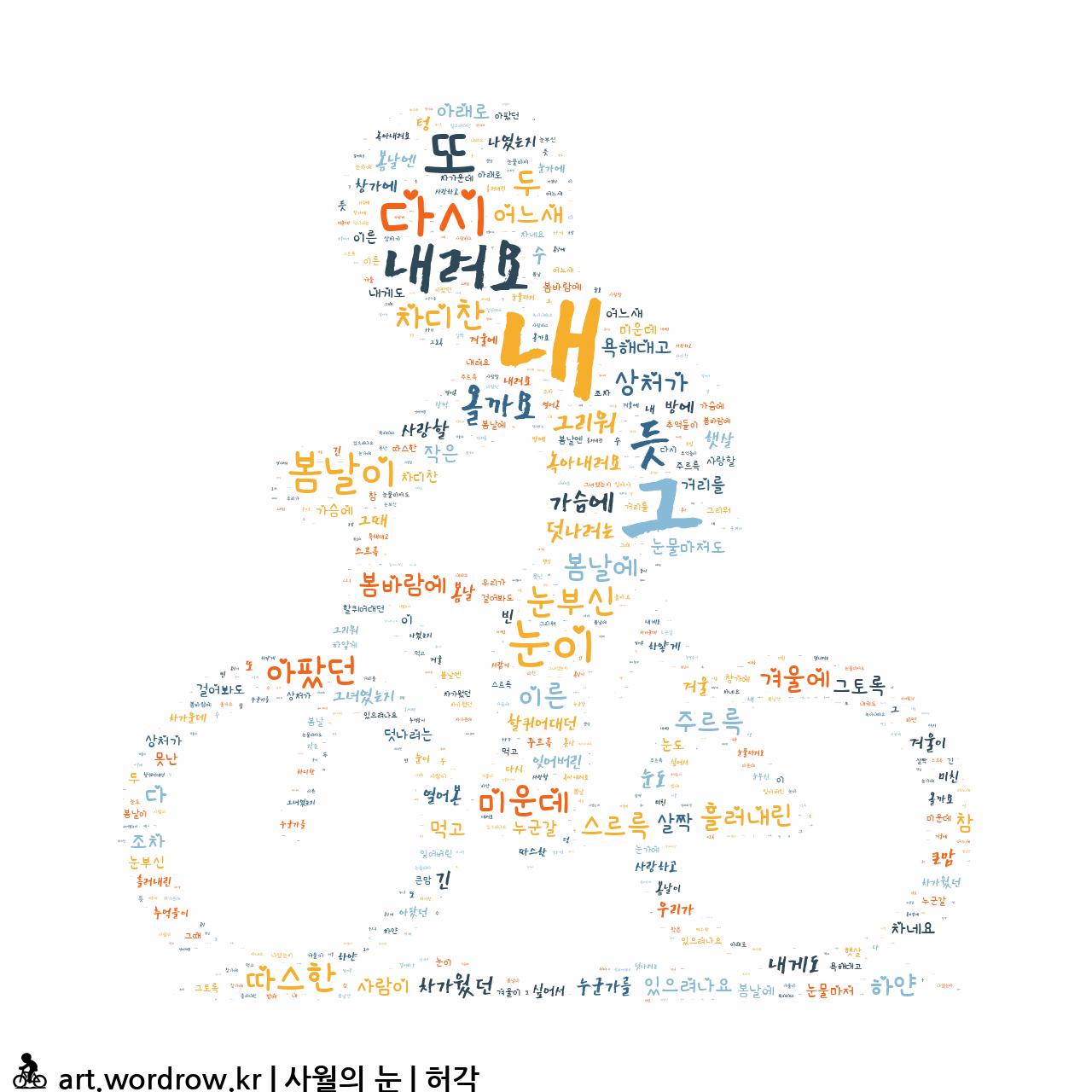 워드 클라우드: 사월의 눈 [허각]-4